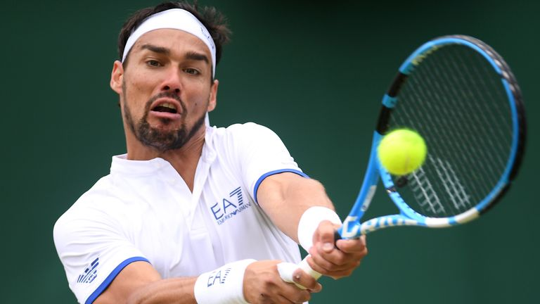 "Fognini said ""wish a bomb would explode on this club"" in Italian"
