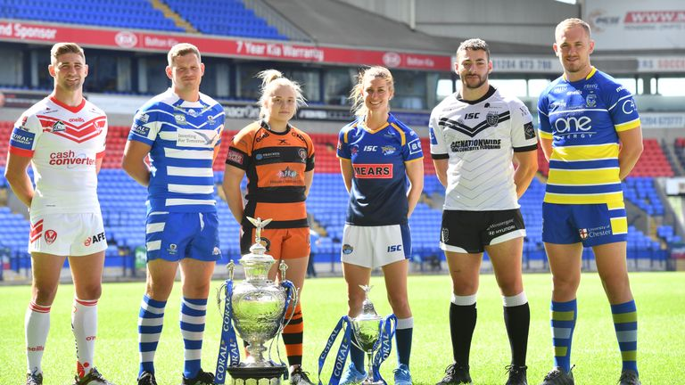 The Challenge Cup semi-finals and Women's Challenge Cup final take place in Bolton on Saturday