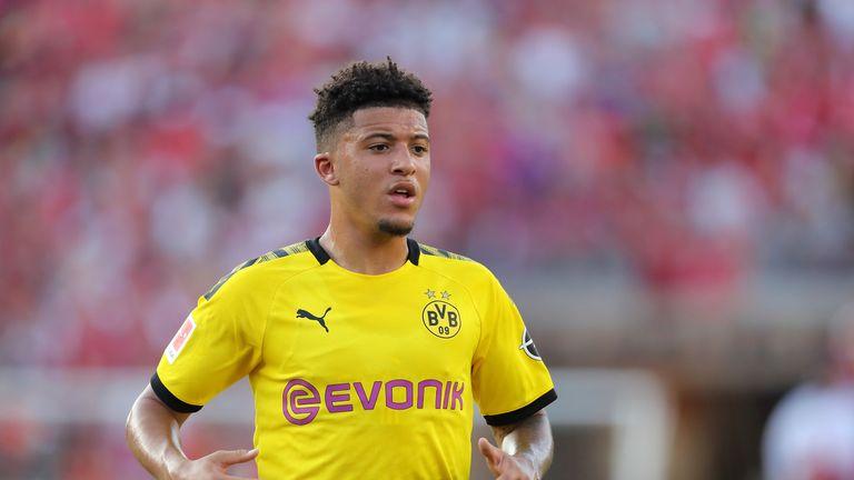 Jadon Sancho attracted interest from a 'super club', according to Borussia Dortmund CEO Hans-Joachim Watzke