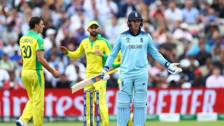 Jason Roy was given out when on 85 after being caught by Alex Carey despite not touching the ball