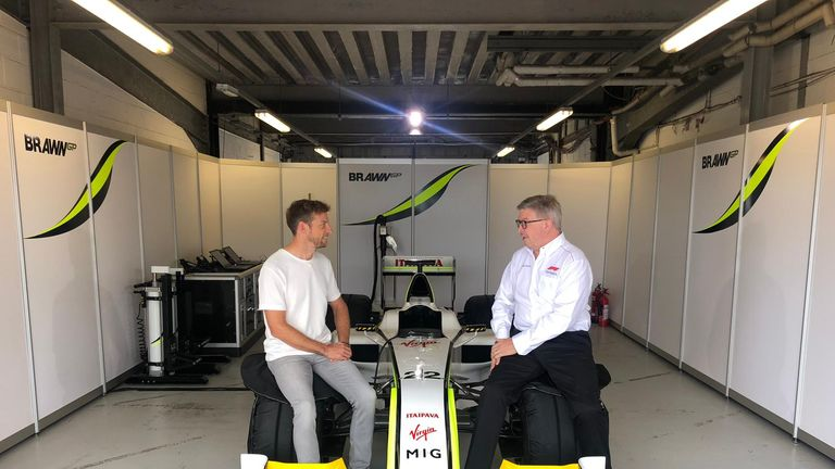 Jenson Button reunited with title-winning Brawn car in Sky F1 special