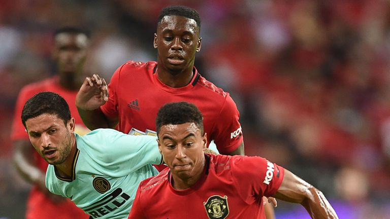 Manchester United's Jesse Lingard in action against Inter