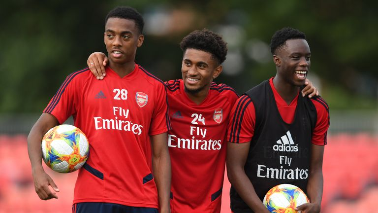 Joe Willock, Reiss Nelson and James Olayinka are three of Arsenal's bright young talents