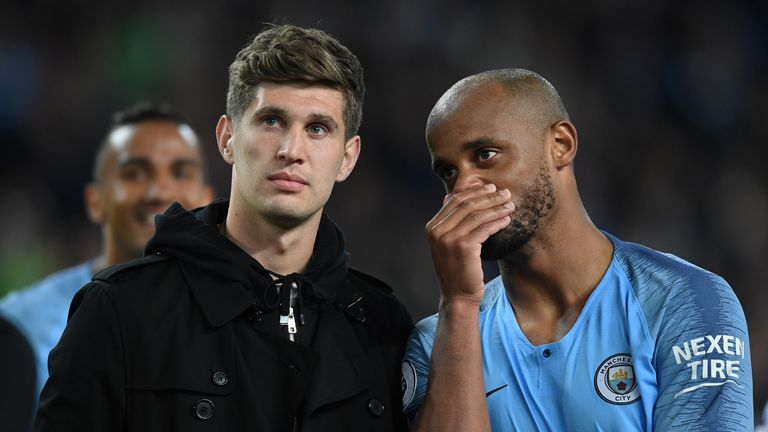 Guardiola says the squad does not miss Vincent Kompany and they will not look to replace him until the summer