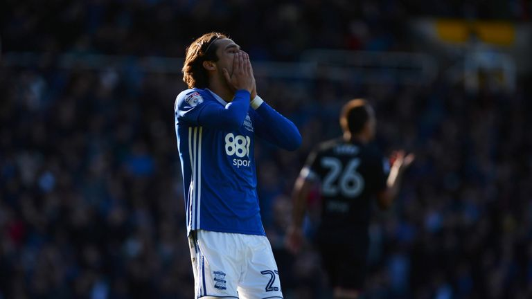The Spaniard failed to make waves at Birmingham as a record signing