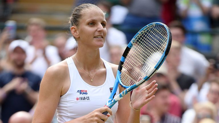 Karolina Pliskova has set up an all-Czech clash in the fourth round