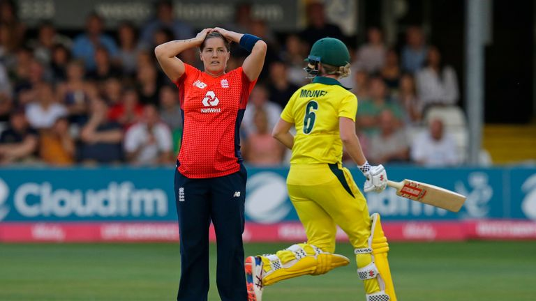 Katherine Brunt finished with figures of 0-40 from her four overs