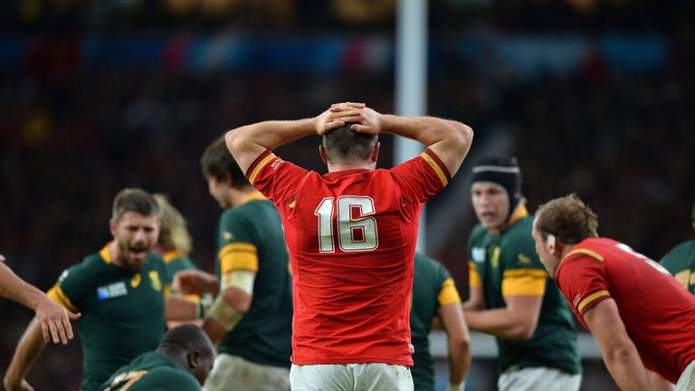 Ken Owens came on as a substitute during Wales' 23-19 defeat to South Africa in the quarter-final of the 2015 Rugby World Cup