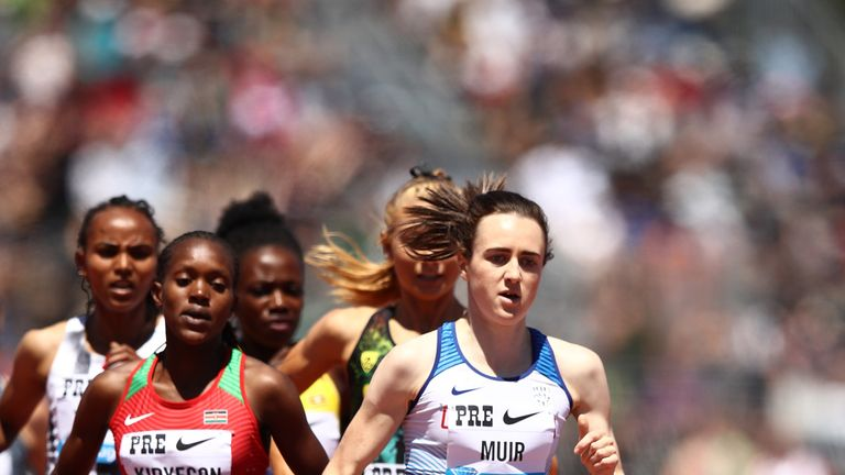 Laura Muir set a personal best in the women's 800m
