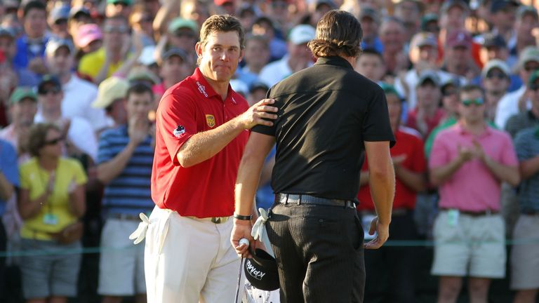 Westwood missed out in the 2010 Masters as Phil Mickelson triumphed