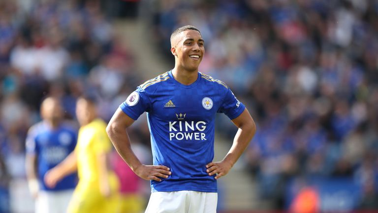Youri Tielemans joined Leicester permanently on Monday