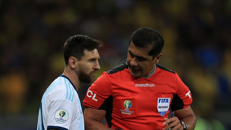 Messi was unimpressed with the performance of referee Roddy Zambrano in Argentina's defeat to Brazil