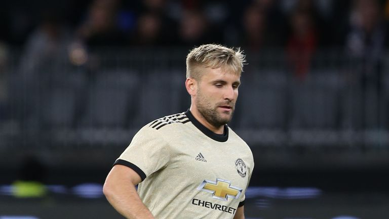Luke Shaw came off after tweaking his hamstring
