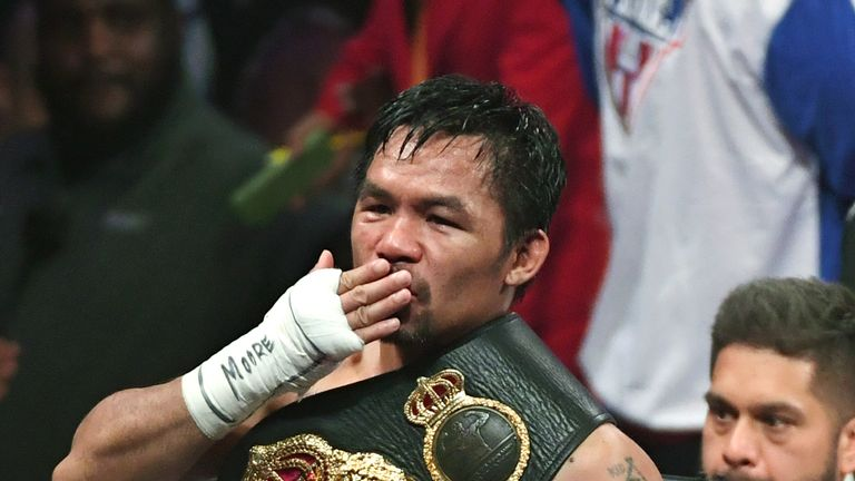 Manny Pacquiao beat Keith Thurman to take the WBA strap