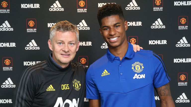 Rashford signed a new contract with United this summer to 2023