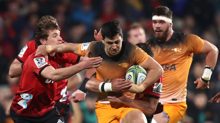 Matias Moroni attacks for the Jaguares