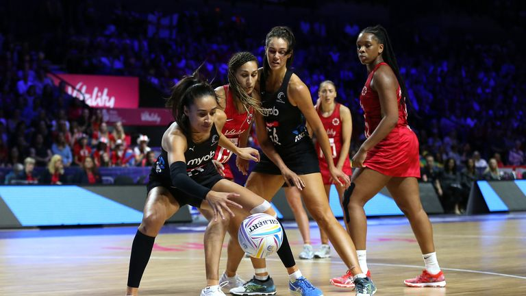 Maria Folau made her 145th appearance for the Silver Ferns against England