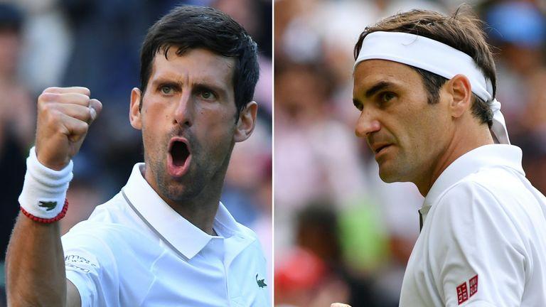 Novak Djokovic takes on Roger Federer in a mouth-watering men's final