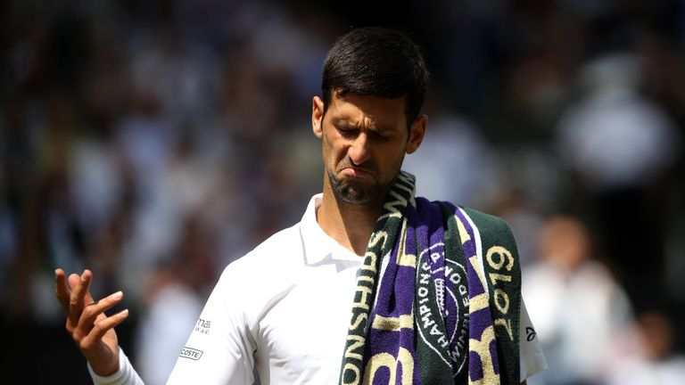 Novak Djokovic appeared rattled at times during his victory against Roberto Bautista Agut