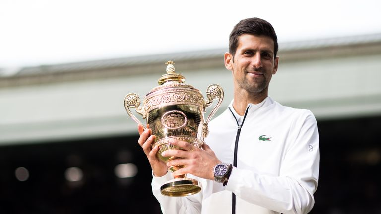 Novak Djokovic defended the Wimbledon title for the second time