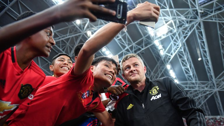 Ole Gunnar Solskjaer's United beat Spurs in the final game of their tour in Singapore