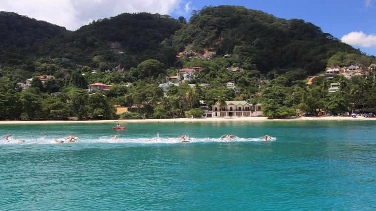 The Seychelles first hosted the Marathon Open Water series event in 2018 (Copyright: Vanessa Lucas – STB)