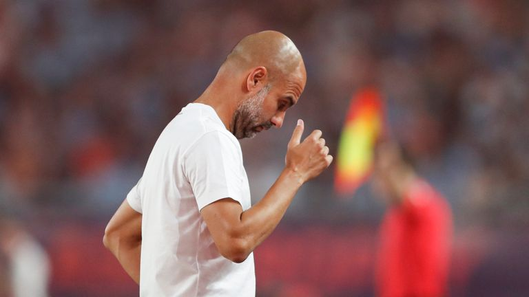 Pep Guardiola during City's 4-1 win over West Ham