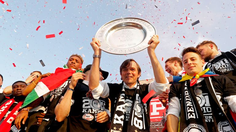 Cocu won four Eredivisie titles as a player at PSV and three more as their manager
