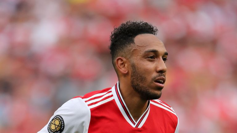 Pierre-Emerick Aubameyang played for Arsenal against Real Madrid in the International Champions Cup