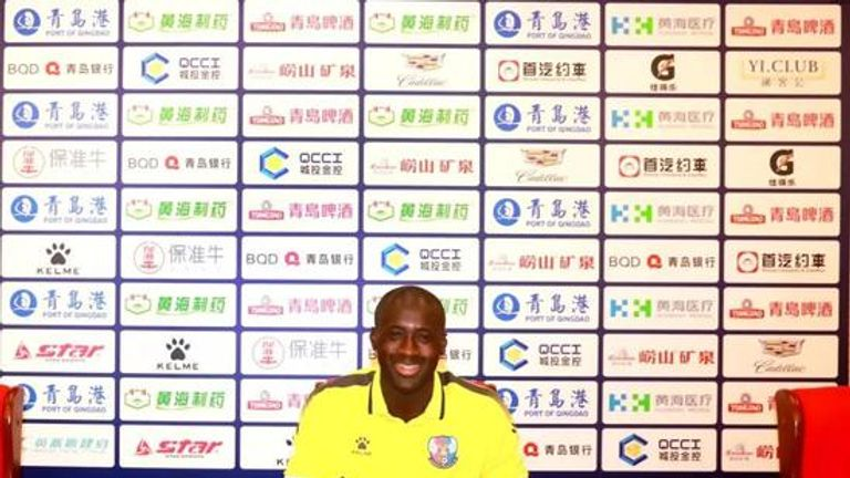 Yaya Toure has joined Chinese League One side Qingdao Huanghai