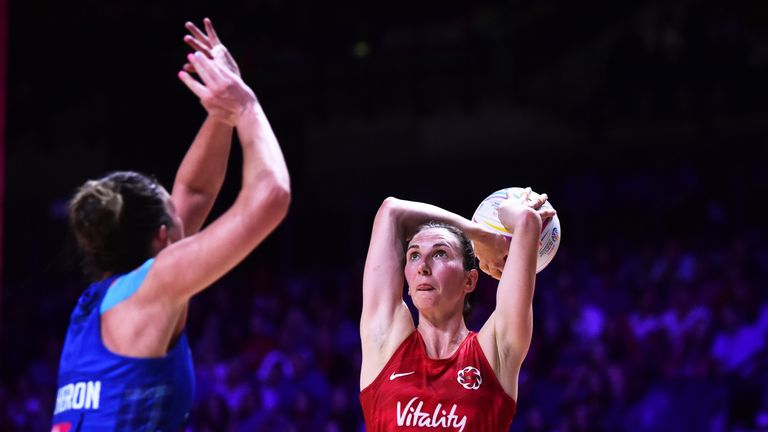 Rachel Dunn was selected to compete in the 2019 Vitality Netball World Cup through the 'P3' route