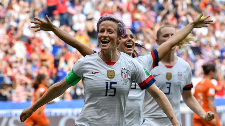 Captain Megan Rapinoe set the USA on their way to the 2019 Women's World Cup