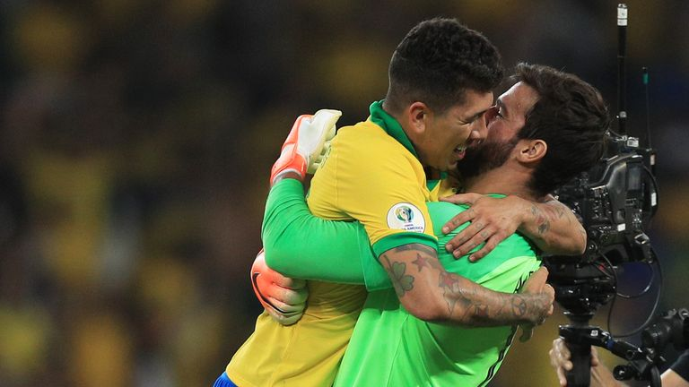 Alisson Becker and Roberto Firmino helped Brazil win the Copa America