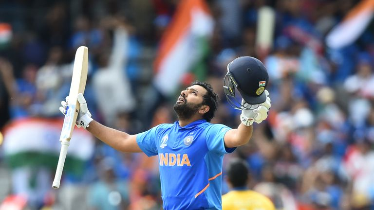 India opener Rohit Sharma has scored a record five centuries in a World Cup