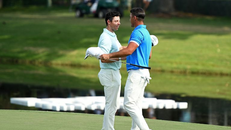 McIlroy played alongside Koepka during the final round