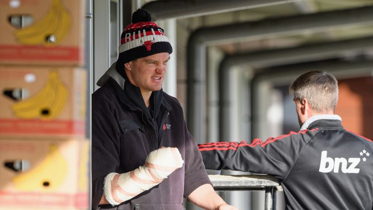 Scott Barrett broke his index finger and faces six weeks out