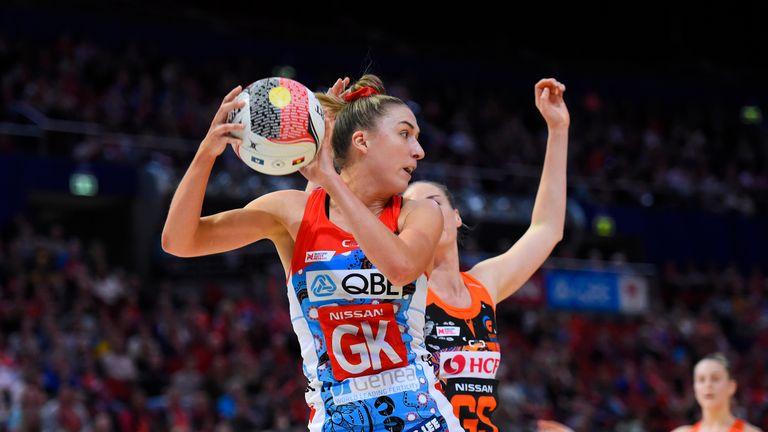 Sarah Klau of the New South Wales Swifts will enjoy her World Cup debut in Liverpool