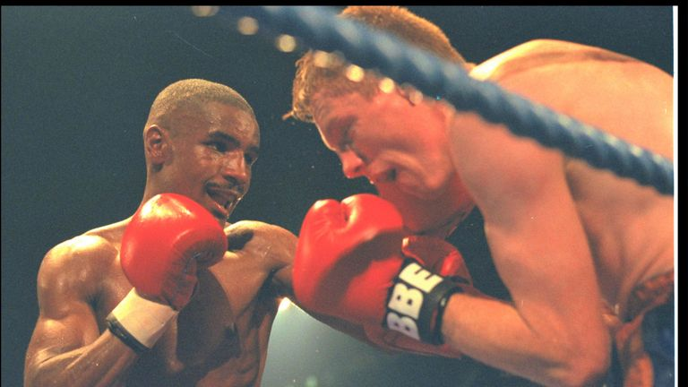 Murphy fought Steve Robinson for WBO belt during professional career