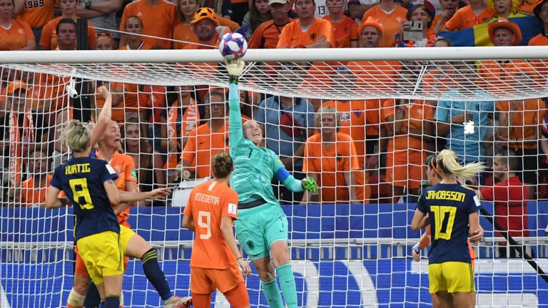 Netherlands goalkeeper Seri van Veenendaal was superb for her country in the semi-final