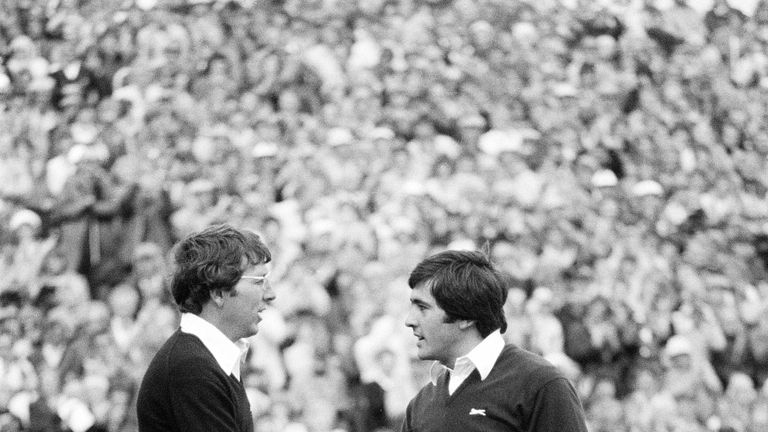 Ballesteros played alongside Hale Irwin on the final day