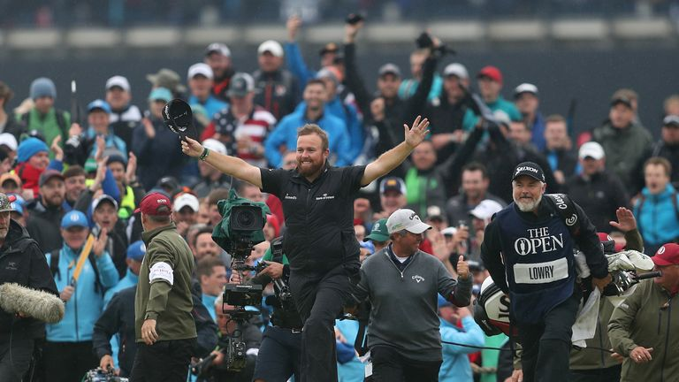 The Open: Shane Lowry's victory one of the greatest, says Gary Player