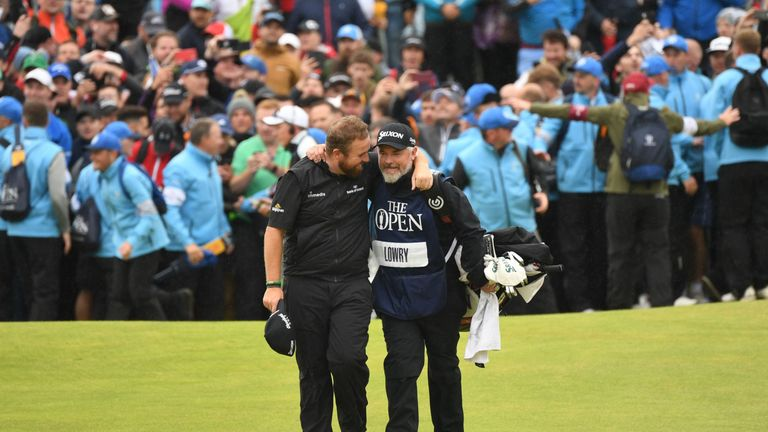 Shane Lowry and caddie Bo, united in victory