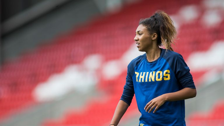Leeds winger Sophie Robinson is looking forward to a re-run of last year's final