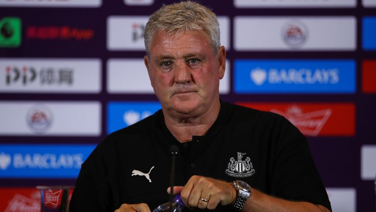 Newcastle appointed Steve Bruce as their new head coach earlier this month