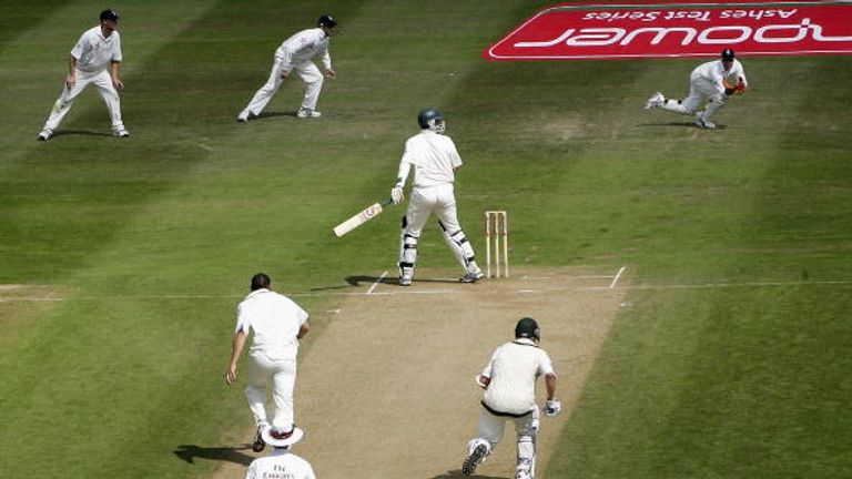 England claim an infamous win over Australia at Edgbaston in 2005