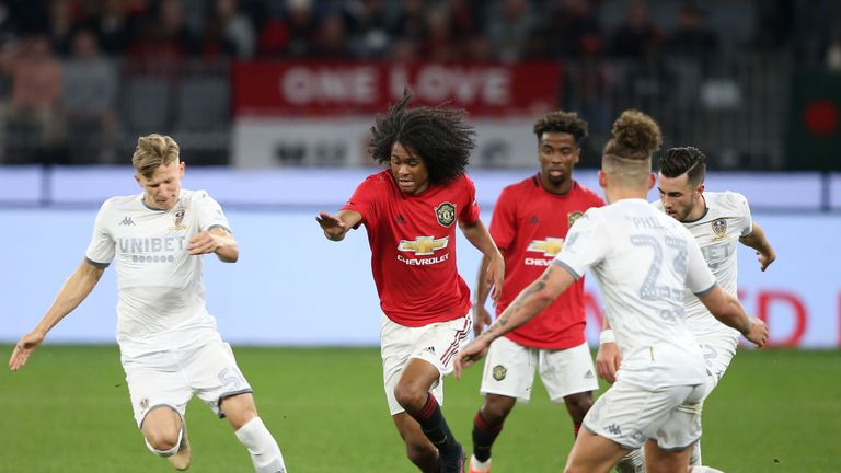 Tahith Chong and Angel Gomes impressed against Leeds in Perth