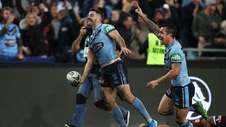 Tedesco celebrates his dramatic last-gasp winning try