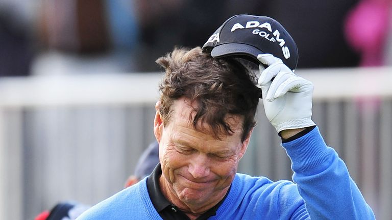 Watson carded a two-over 72 during the final day at Turnberry