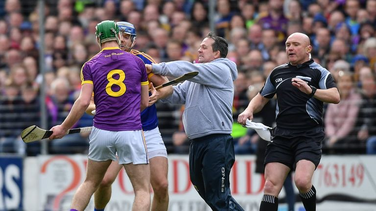 Davy Fitzgerald became involved from the sideline
