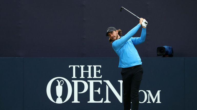 Fleetwood tees off on the opening hole